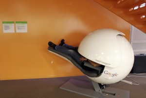 A 'nap pod'in use at Google