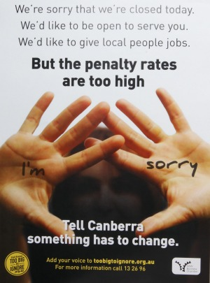 penalty rates-poster