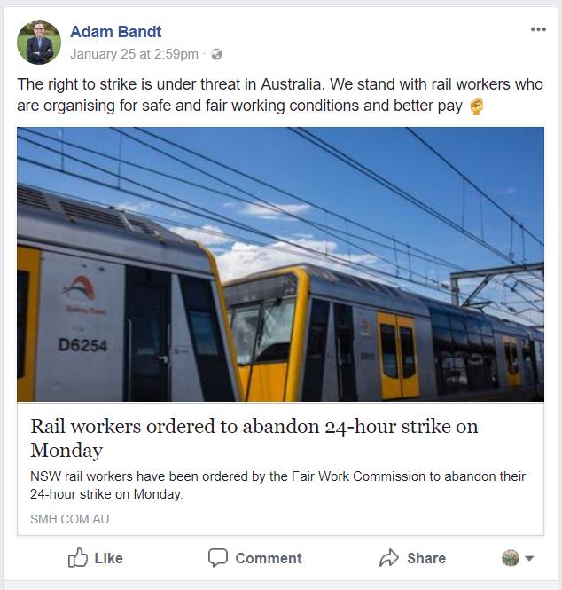 Bandt post