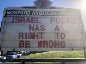 Israel folau gosford church