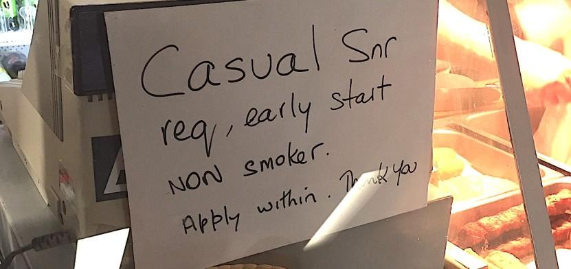Casual Senior employment